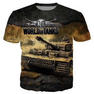 Wholesale Newest Fashion Cartoon Anime Game World of Tanks T Shirt Funny D Printed Women Men Short Sleeve Unisex T shirt Casual Tops K375