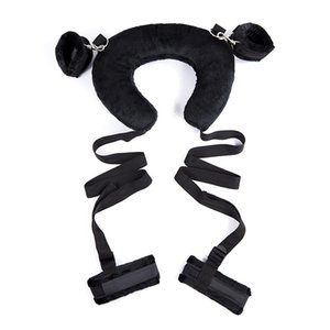 Comfortable Sponge Plush BDSM Bondage Sex s Restraints Neck Ankles Restraints Bed Fetish Slave Erotic Lingerie Y1893001