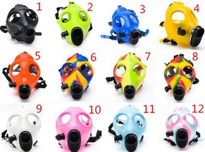 Wholesale Smoking Dogo Silicon Mask Creative Acrylic Smoking Pipe Gas Mask Pipes Acrylic Bongs for dry herb Shisha PipeSBO