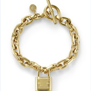 Wholesale Big Fashion Designer Jewelry Gold Bangle Link Chains Charms Lock Bracelet
