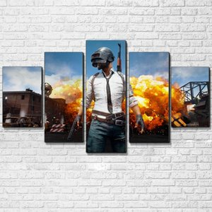 Wholesale painting games resale online - HD Print PUBG Jedi survived the battlefield Game poster Cuadros Landscape Canvas art Spray Painting pieces Picture Home wall Decoration