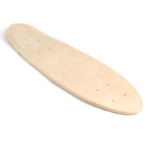 Wholesale 24 Inch Fish Skateboard Natural Single Foot Wooden Maple Blank Deck Board Parts Happy Baby DIY Skateboard Accessories