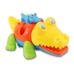 Wholesale Animal DIY Assembly Toy Children Block Games Plastic Disassembly Crocodile Educational Toys for Boys Children