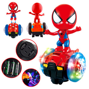 Wholesale Electric all directional balance car toy degree automatic rotating light music toy car night market cross border source of kids toys