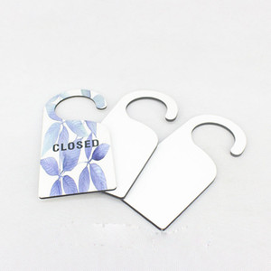 mdf door hanger sign for dye sublimation blank door hanger for heat transfer printing diy custom gift wholesales thickness is 5mm