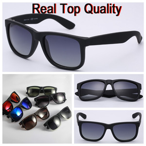 Wholesale Top quality brand sunglasses justin model for man woman polarized UV400 lenses with original boxes packages accessories everything