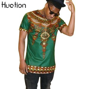 Wholesale 2018 Fashion Band African Traditiont shirt Design Cotton New Arrival Print Dashiki Clothing Short Sleeve O neck T shirt For Men