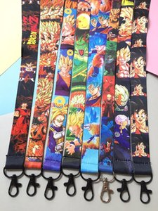 New 30 pcs Japanese anime Dragon Ball mix boy Lanyard Mobile Phone ID Card KeyChain Holder