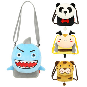 Wholesale Cartoon plush bags for kids girls messenger bag Baby Purse for coin and mobile Types Children Accessories