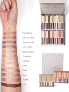 Wholesale 2019 new Dropshipping Stila Eye For Elegance Set Starry Eyed Liquid Eyeshadow Vault Travel Makeup Glow Set Eye Cosmetics For Girls Colors