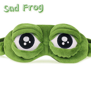 New Adults Kids Sad Frog 3D Eye Mask Toys Soft Sleeping Funny Plush Stuffed Toys for Children Costumes Accessories Party Gift