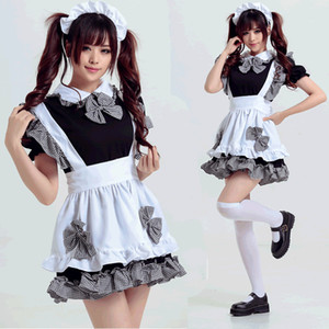 Wholesale Halloween Adult Women Sexy Maid Lolita Costume Japanese Anime Maid Cosplay Fancy Dress