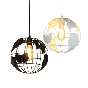 Wholesale Globe Pendant Lights Black White Lampshade for Kitchen Bar Dining Room Restaurant Coffee Shop Home Decoration Hanging Lamp