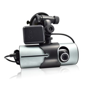 Wholesale Dual Camera Car DVR R300 GPS and D G Sensor quot TFT LCD Cam Video Camcorder Cycle Recording Digital Zoom lopt