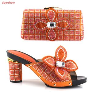 Shoe and Bag Set New Fashion Italian Shoes With Matching Bag Set High Quality African Shoes And Bag Set For Wedding And Party HV1-29