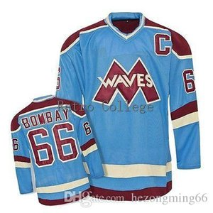 Wholesale NEW RARE Mighty Ducks Waves Hockey Jersey Gordon Bombay Custom Plain Embroidery Stitched Customize any number and name College Jerseys