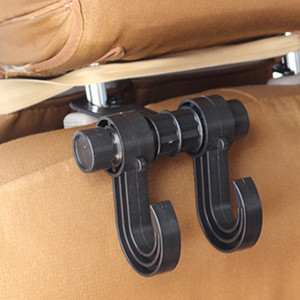 Wholesale Car Back Seat Headrest Hanger Convenience Auto Fastener Clip Holder Hook for Bag Grocery Organizer Car Clips