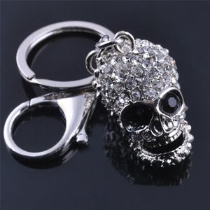 4 Styles Exquisite Crystal Skull Wrench Boxing Gloves  Key Chains Keyring Metal Keychain For Men Jewelry Gift