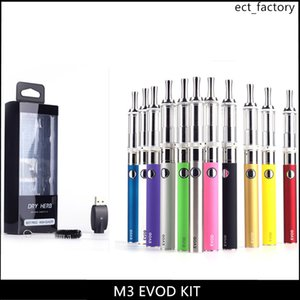 Wholesale Dry Herb M3 Blister Kit Pyrex Glass Vaporizer With EVOD Battery Dry Herb Blister Card Electronic Cigarette Huge Vapor E Cigarettes