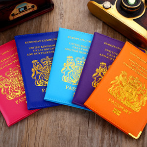 Wholesale Hot Top quality fabric protect UK Photo box wallet colors PU leather card holder case holder passport holder