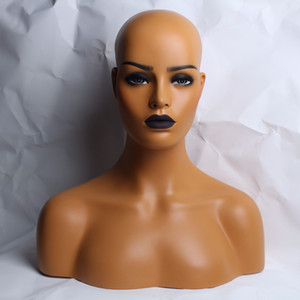 Wholesale YNF022 Female Realistic Fiberglass Mannequin Head Bust Sale For Wig Jewelry And Hat Display