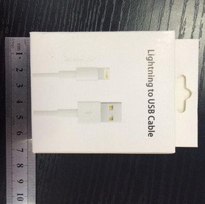 Wholesale retail box package for iphone adapter usb data cable retail box for iphone cable with factory price