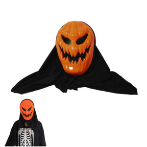 Wholesale pumpkin face mask for sale - Group buy Halloween Mask Ghost Festival Tricky Toy Plastic Pumpkin Full Face Headgear Grimace Mask For Carnival Party Bar Decoration