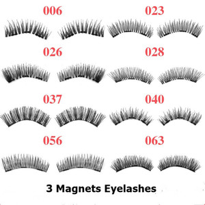 Wholesale lash extensions kits for sale - Group buy 8 Styles Magnetic eyelashes D false eyelashes with magnets Handmade cilios Eye Lash Extension Eye Lashes Makeup Kit