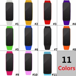 Wholesale Colorful Waterproof Soft Led Touch Watch Jelly Candy Silicone Rubber Digital Screen Bracelet Watches Men Women Unisex Sports WristwatchD0582