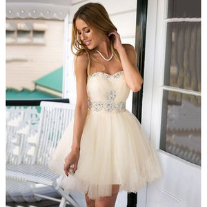 Sexy Sweetheart Short Party Dress Crystal Beaded Pleats Graduation Prom Gowns Robe De Mini Cocktail Dress Custom Made on Sale