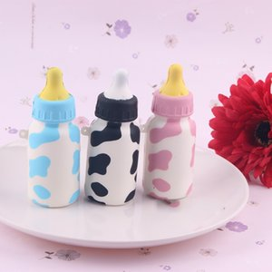 Wholesale Novelty Kawaii Squishies Bun Soft Feeding Bottle Mini Fashion Cell Phone Bag Charm Straps Rare Squishy Slow Rising Lanyard Toy sq Y