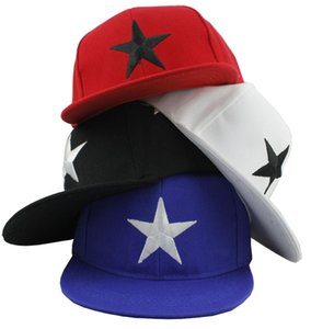 Wholesale kids boy girls adjustable star pattern baseball caps toddlers kids summer snapback hip hop peaked cap top quality