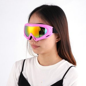 Wholesale professional skiing goggles Single Layers lens Adult anti fog UV400 ski glasses snowboard men women snow goggles eyewear