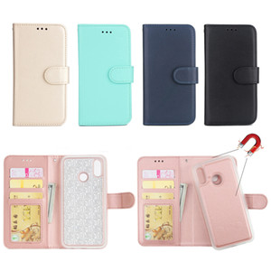 Wholesale 2 in Detachable Leather Wallet Flip Case For HuaWei P20 Lite Mate Pro P8 P9 P10 Plus With Magnetic Back Cover