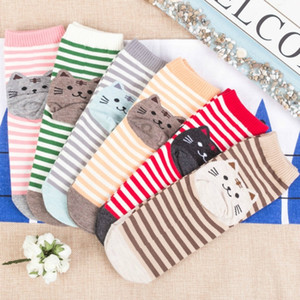 Wholesale High Quality Various Styles Women s Casual Cotton Socks Printed Cute Cats Winter Autumn Korean Style Knit Socks