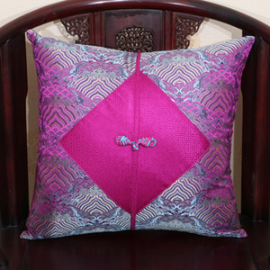 Wholesale Natural Mulberry Silk Merry Christmas Cushion Cover Pillow Case 60x60cm 50x50cm 45x45cm Chinese knot Decorative Sofa Chair Cushions