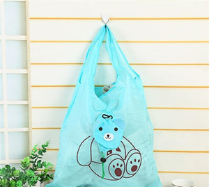 Wholesale foldable cute eco bag for sale - Group buy Cartoon Animal Fruits Foldable Cute Usable Shopping Bags Handbag Polyester Fiber Cloth Storage Bag Eco Friendly Novelty ds ZZ