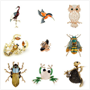 Wholesale Bee Black Yellow Enamel Insect Brooches For Women Kids Animal Brooch Jewelry Hijab Pins Party Gifts Accessories