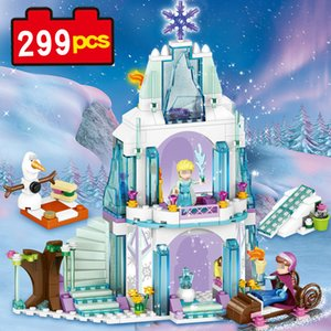 79168 299pcs building blocks Princess Sets princess set Ice Snow Castle lepin DIY model kid toys comparable with Nego on Sale