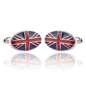 Wholesale American Union Jack Australia National Flag Cufflinks Cuff Links Fashion Jewelry Accessories for Men s Shirt Wedding Groom Gift