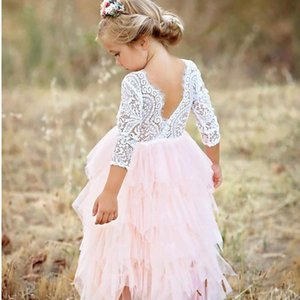 Children's Dresses Girls Flowers Infant Party Costume For Kids Girl Pageant Dance Ball Gown Princess Prom Birthday Dress 6Yrs