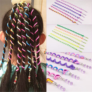 Wholesale Colorful Girls Telephone Line Elastic Hair Bands Hair Spring Rubber Hair-rope ties hair ring wear access Diameter Women Pony Tails Holder 25