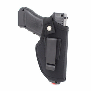 Wholesale EDC Nylon Pistol Holster with Metal Clip Belt Concealed Outside or Inside Waistband for Right Left Hand Adjustable Fits Most Handguns