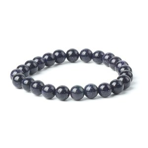 Wholesale 2018 New Natural Aventurine Bracelet Dark Blue Stone Blink Charms Bracelet mm Loose Gemstone Bracelets Jewelry for Women Men