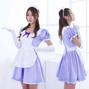 Free Shipping New sexy lingerie cosplay Cosplay Japanese anime show costume lolita princess maid costume Meng Lolita maid loaded purple