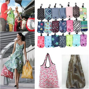 Nylon Foldable Shopping Bags Cell phone Case Reusable Eco-Friendly folding bags Shopping Pouch New Ladies Storage Handbag Bags
