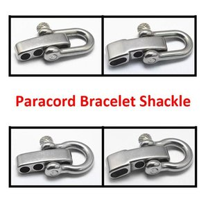 Wholesale paracord bracelet mm holes U shape steel adjustable shackle