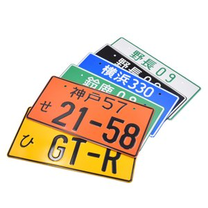 New Racing Japanese Style License Plate JDM Style Aluminum License Number For Universal Car on Sale