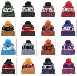 Wholesale Beanies Hats American Football teams Beanies Sports winter knit caps Beanie Skullies Knitted Hats CNY815