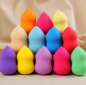 100pcs lot Face Bottle Gourd Sponge Flawless Smooth Pro Beauty Makeup Powder Puff Mix Colour Women Gift 60*40mm
